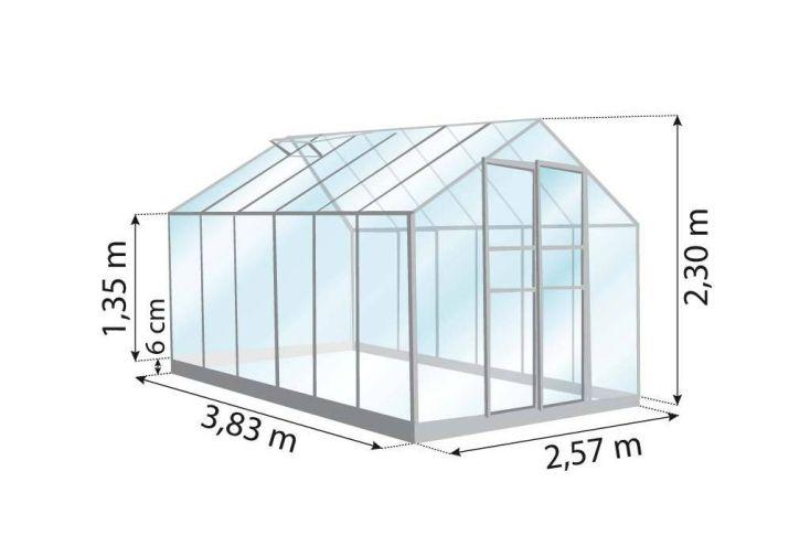 Serre de Jardin en Aluminium Vert et Verre 3mm 10 m² - Merkur 9900 + ...
