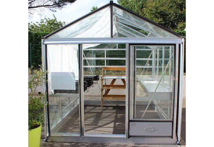 Serre en Verre Structure Aluminium Brut Lams Luxia 12,5 m²