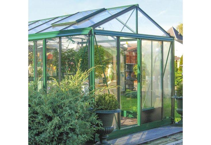Serre en Verre Lams Supra 16,7 m² Structure Aluminium Vert