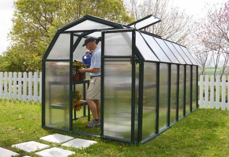 Serre de jardin polycarbonate Rion Eco (204x387x198)