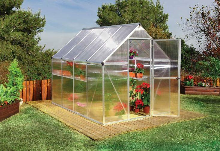 serre de jardin en aluminium et polycarbonate double paroi