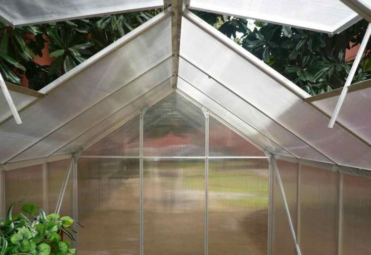 Serre de Jardin Polycarbonate 6,03 m² (192x314)