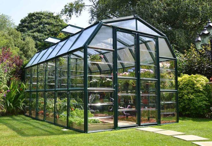 Serre de jardin polycarbonate et pvc 4 x 2 5 m grand - Serre jardin polycarbonate caen ...
