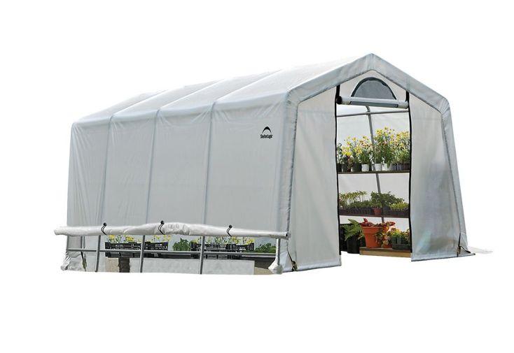 Serre de jardin en polyéthylène avec structure en acier enduit