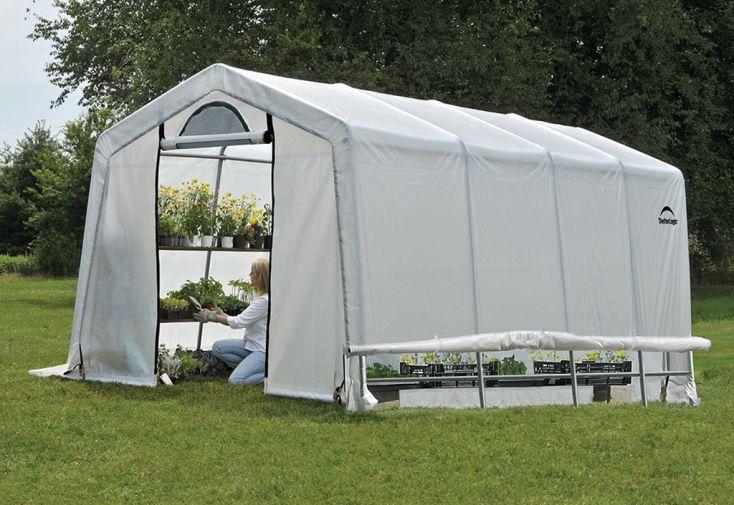 Serre de Jardin Souple avec Aérations en Polyéthylène et Acier 18 m²