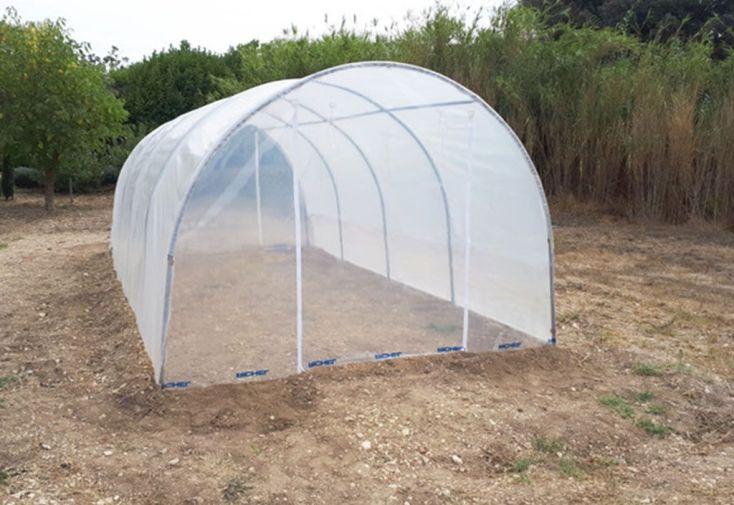 Serre de jardin tunnel richel 3x6 pieds droits 2x180 2 portes zipp es richel for Piscine 3x6 prix