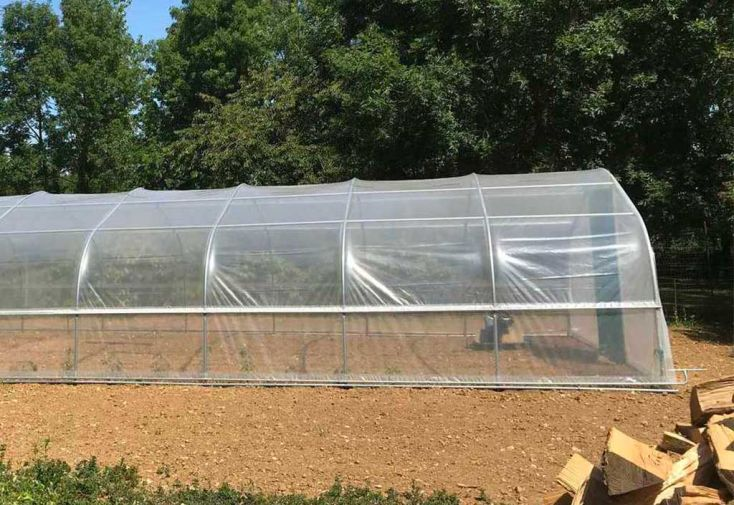 Serre de jardin Tonneau en polyéthylène 7,5 m 5ème Saison