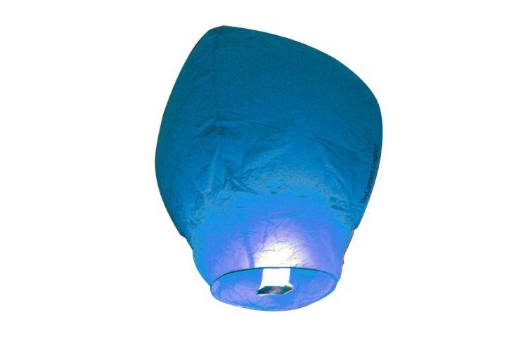 Lot 10 Lanternes Volantes Bleues