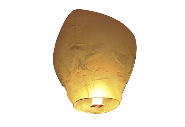 Lot 10 Lanternes Volantes Blanches