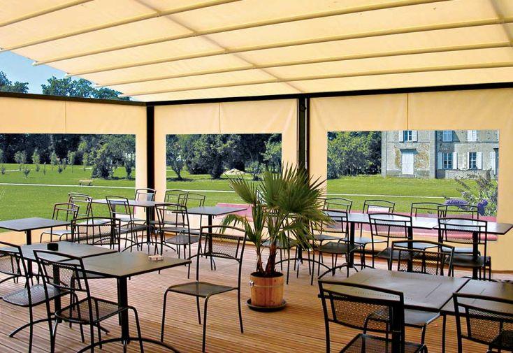 Pergola Visium 4,5 x 3,5 m + Solizip Façade et Latéral + Fenêtre