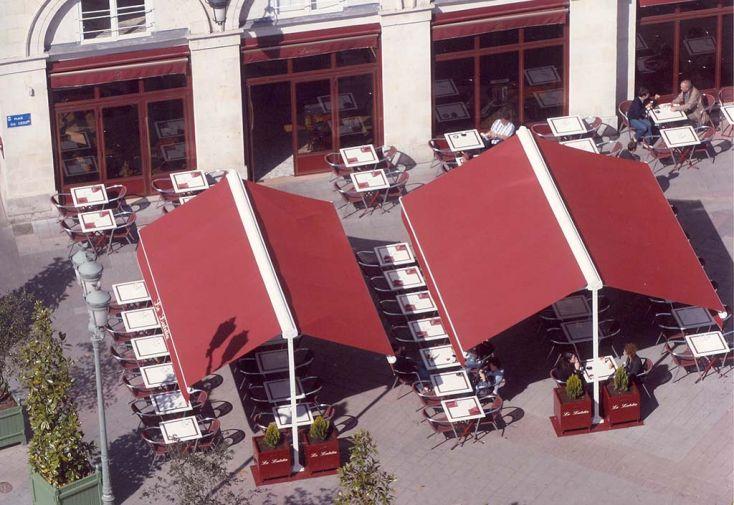 Store de Terrasse sur Pied, Double Pente Athénée (3,6 à 4,78 x 2,75m)