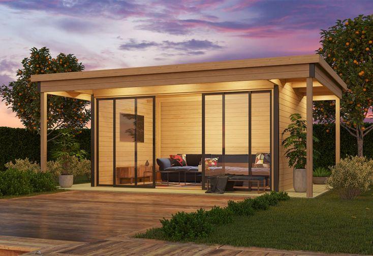 Studio de jardin habitable avec double vitrage et terrasse Doméo 4 V2 Plus