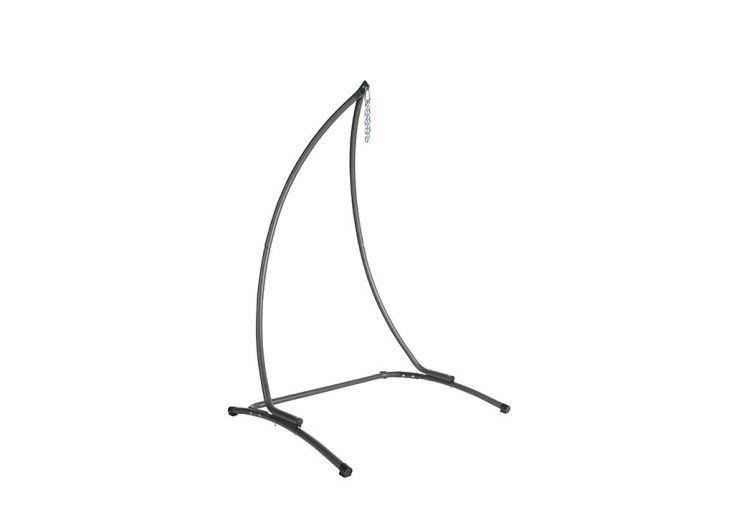 support pour chaise suspendue en métal gris anthracite