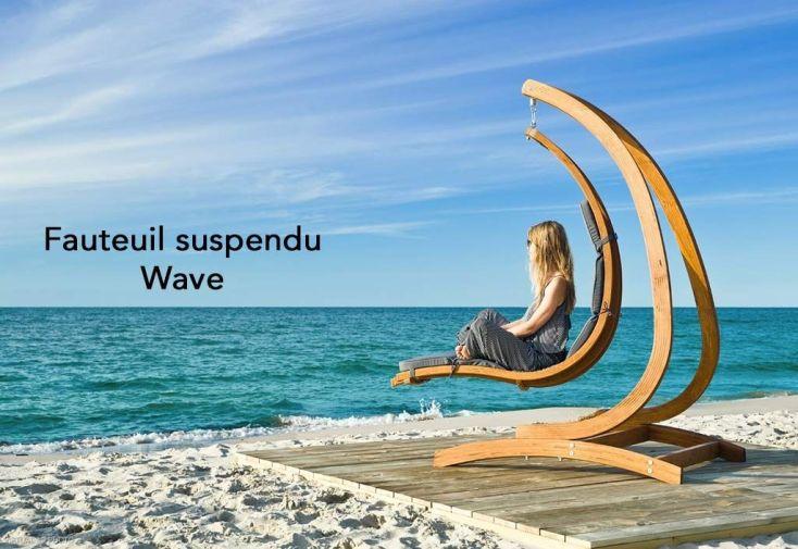Support en bois traité autoclave Optimist pour fauteuil suspendu Wave