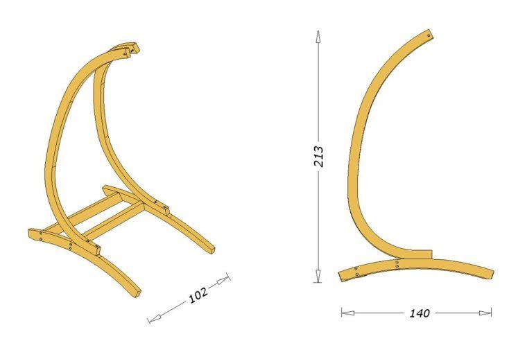 dimensions support optimist en bois lamellé collé autoclave