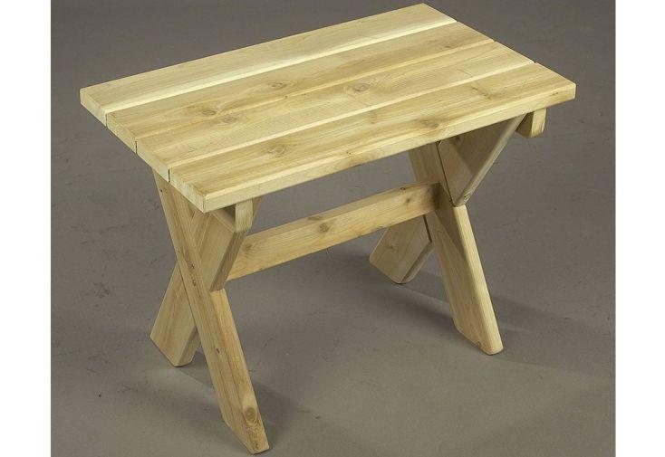 Table à Café Rectangulaire en Cèdre Blanc 61x41x46cm