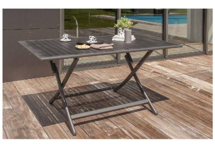 Table de Jardin Pliante Miami en Aluminium 140x80cm