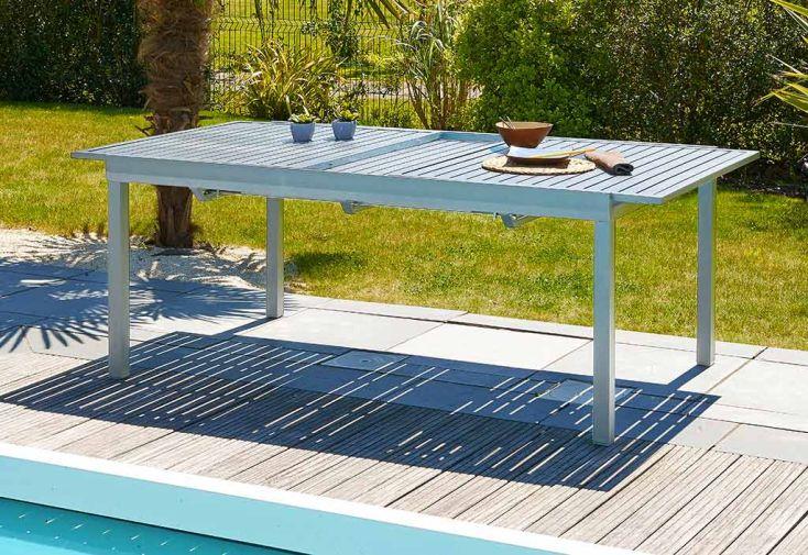 Table de Jardin Orlando en Aluminium (180/240x110cm)