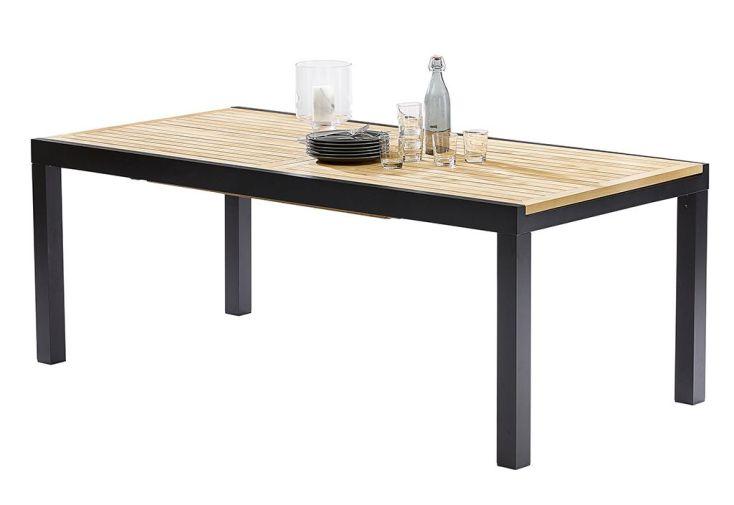 Salon de jardin bali table extensible en alu et teck 8 fauteuils wilsa - Comment entretenir une table de jardin en teck ...