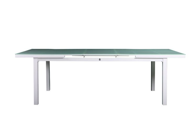 Stunning table de jardin extensible metal verre ideas for Table verre extensible
