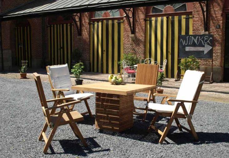 Table de Jardin Carrée en Teck Massif Vicio - B-summer