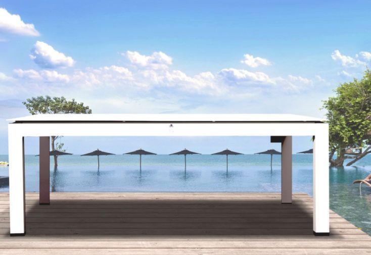 Table Basse de Jardin Aluminium Blanc Maya 120x60cm