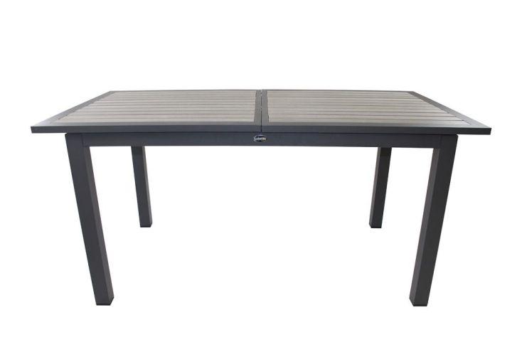 table bois composite rectangulaire 160 220x100 6 fauteuils table aluminium 6 8 personnes. Black Bedroom Furniture Sets. Home Design Ideas