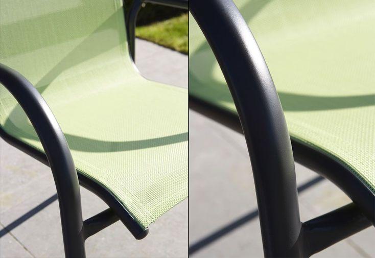 Salon de Jardin Alu et Verre : Table + 8 Fauteuils (2 coloris)