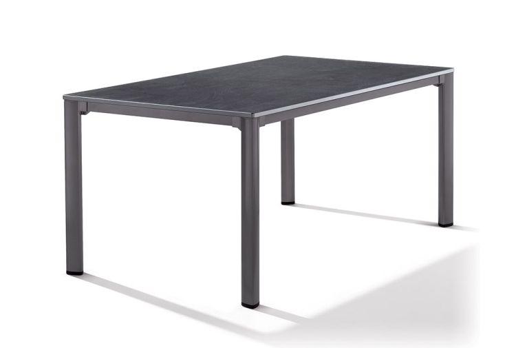 Table de Jardin en Puroplan Anthracite avec Pieds Gris Foncé 165x95cm