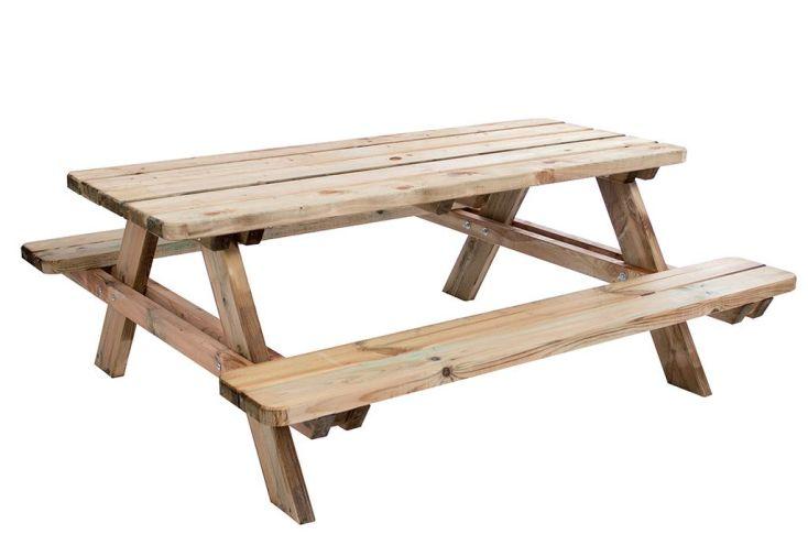 Table de Pique-Nique en Bois Traité Matisse 180x165x70cm
