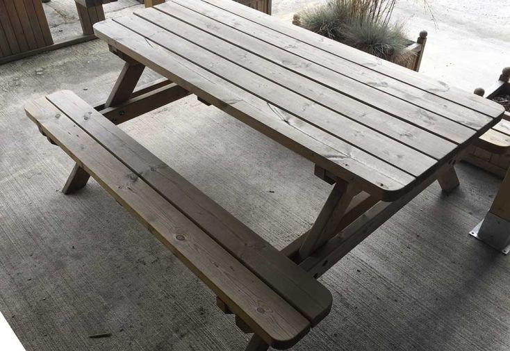 Table de Pique Nique en Bois Autoclave 45mm (à partir de 15)