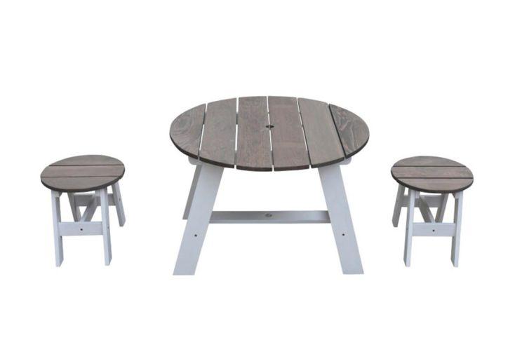Table pour Enfant en Bois de Hemlock et Tabourets Axi