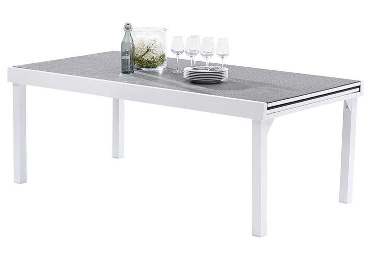 Salon de Jardin Modulo Stone: Table Extensible + 8 Fauteuils + 4 Chaises