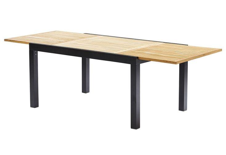 salon de jardin bali aluminium et teck table 6 fauteuils 150 240x100 wilsa. Black Bedroom Furniture Sets. Home Design Ideas
