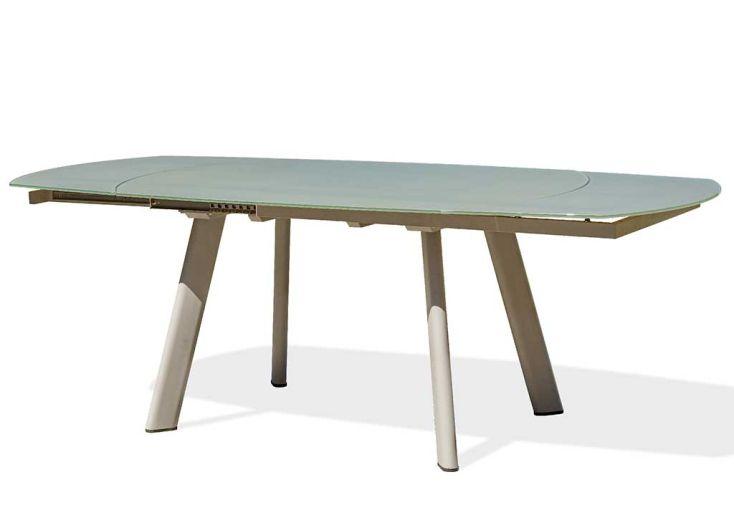 Table de Jardin Extensible en Aluminium et Verre DCB Garden