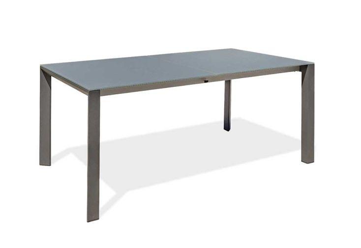 Table de Jardin avec Rallonge en Aluminium et Verre Paris Garden Honfleur