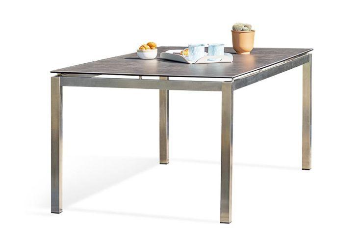 Table de Jardin en Inox avec Plateau Céramique 200 x 100 cm – Torino