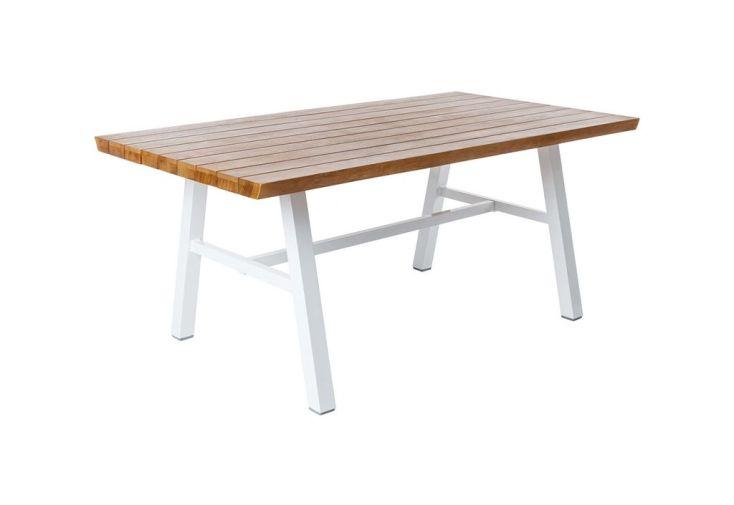 Table de jardin aluminium et bois Sakia