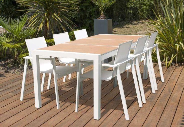 Table de Jardin Aluminium et Céramique 200 x 100 cm Helsinki - DCB ...