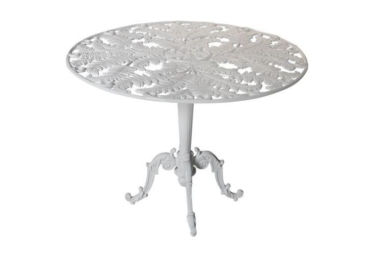 Table de Jardin Fonte d'Aluminium Moulé Fougère