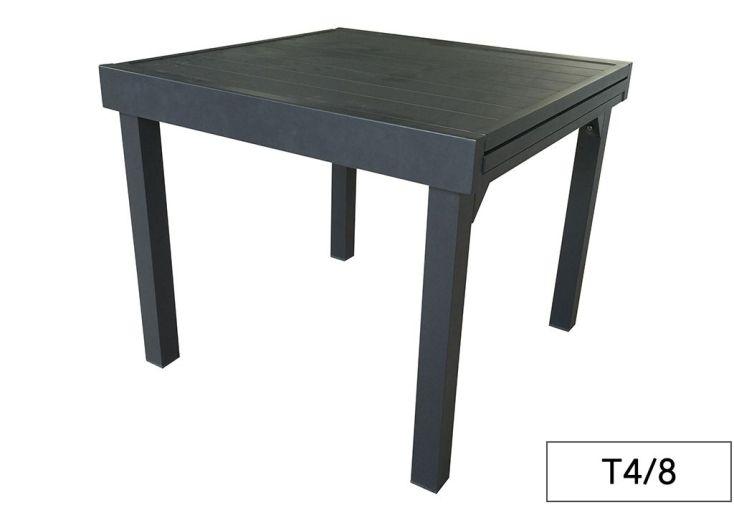 Table de Jardin Aluminium Modulo Gris Anthracite (Pls Dimensions)