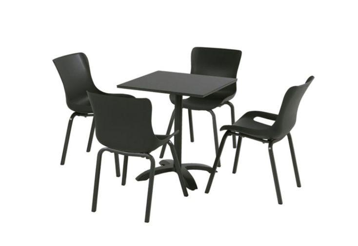 Table De Jardin Pliable En Aluminium Et Hpl Sophie Bistro 68 X 68