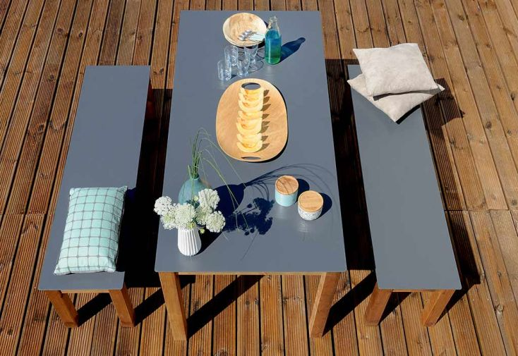 Table de Jardin Neliö Bois et Composite 170 cm