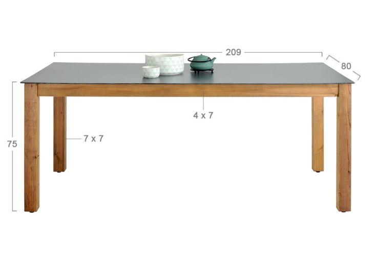 Table de Jardin Neliö Bois et Composite 209 cm
