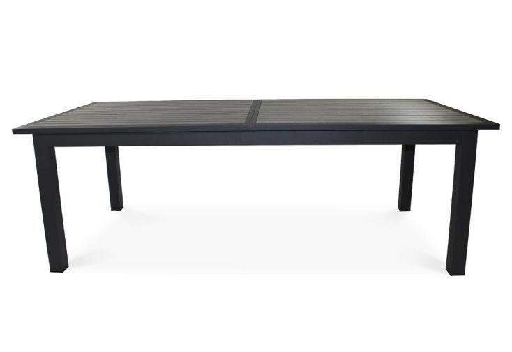 Table de Jardin Aluminium et Bois Composite (224/324x100cm)