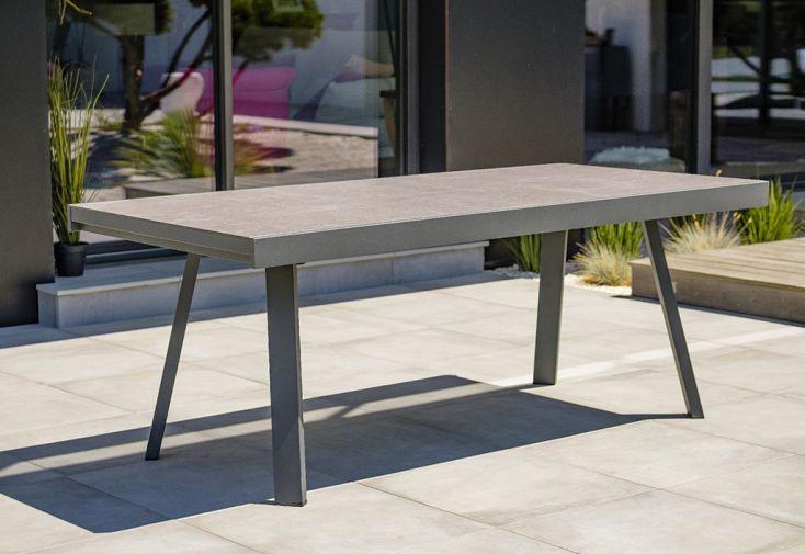 Table de Jardin Extensible Aluminium et Céramique DCB Garden Stockholm