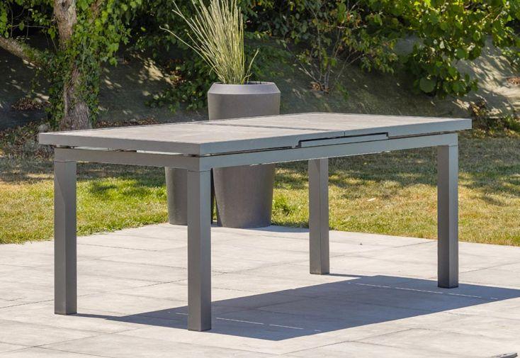 Table de Jardin Extensible Aluminium et Céramique DCB Garden Venise