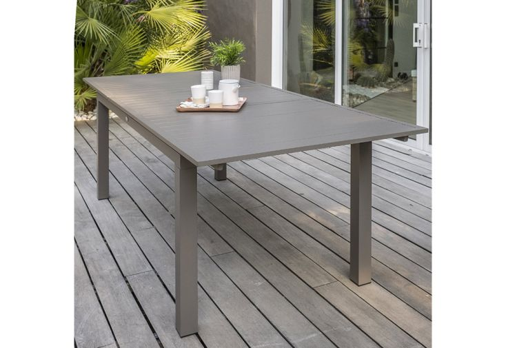 Table De Jardin Extensible En Aluminium Zahara 180 240 Cm Dcb Garden