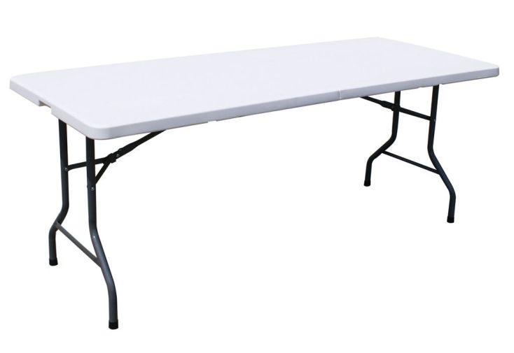 Table Résine Pliante 183x76 Azur