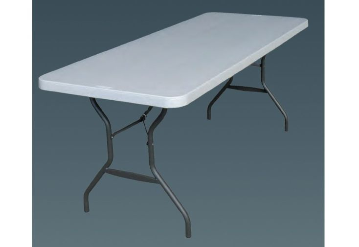 Tables Résine non Pliante 183x76 + Chariot - Lot de 10